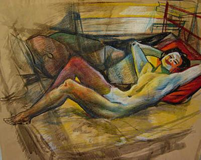 Jirayr Hamparzoom Zorthian Reclining Nude
