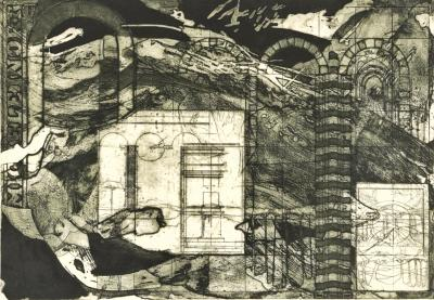 Jo Anne Paschall MICHELE FLOOD MEMORY AFFAIR LITHOGRAPH BY JO ANNE PASCHALL NUMBER 4 OF 20