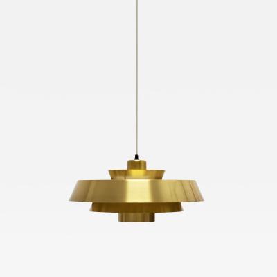 Jo Hammerborg Jo Hammerborg Nova Pendant Light in Brass for Fog M rup Denmark 1960s
