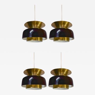 Jo Hammerborg Jo Hammerborg Set of Four Pendant Light in Good Vintage Condition