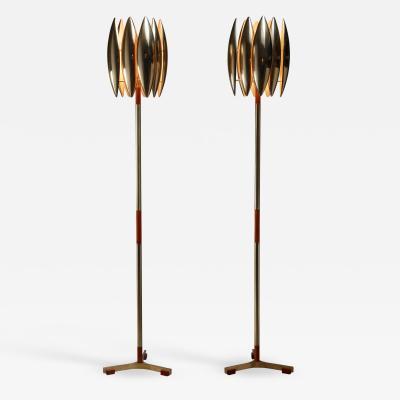 Jo Hammerborg Jo Hammerborg pair of Kastor floor lamps Denmark 1960s