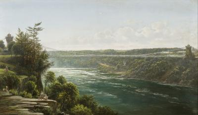Joachim Ferdinand Richardt Suspension Bridge over the Niagara River