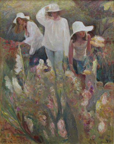 Joan Beltr n Bofill Tres figuras y flores