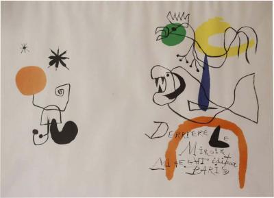 Joan Mir Derriere le Miroir Lithograph by Joan Miro