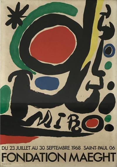 Joan Mir FONDATION MAEGHT Joan Miro Abstract Poster 1968 Paris France