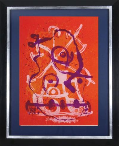 Joan Mir Joan Mir Chevauch e Rouge Violet Original lithograph 1969