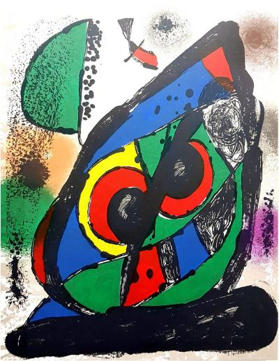 Joan Miro Joan Mir Original Abstract Lithograph from Lithographe IV 1981