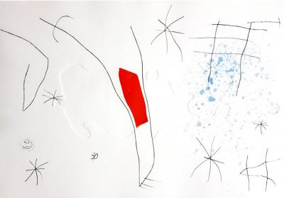 Joan Miro Joan Miro LIssue D rob e Original Aquatint 1974