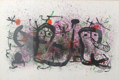 Joan Miro Joan Miro Lithograph Ma de Proverbis Signed and Numbered 18 100