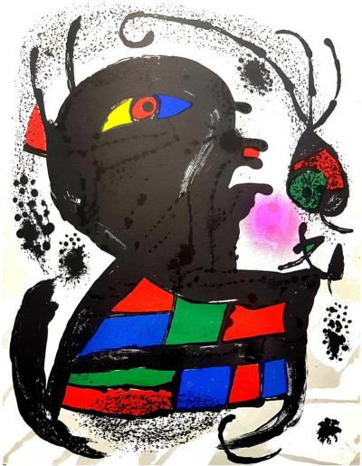 Joan Miro Joan Miro Original Abstract Lithograph 1976