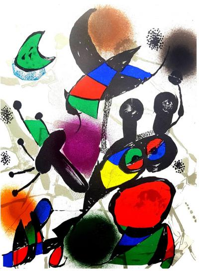 Joan Miro Joan Miro Original Abstract Lithograph from the book Miro Lithographe III
