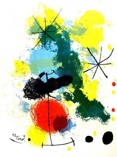 Joan Miro Joan Miro Original Lithograph Frontispiece for Prints from Mourlot Press