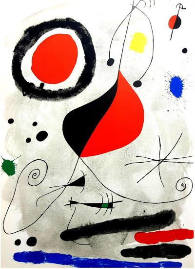 Joan Miro Joan Miro Original Lithograph from Derriere le Miroir 1964
