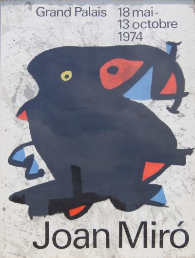 Joan Miro Large Framed Poster for Joan Mir Exhibition 1974