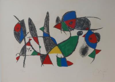 Joan Miro Lithograph by Joan MIro Circa 1975 Lithographs II Plate 10