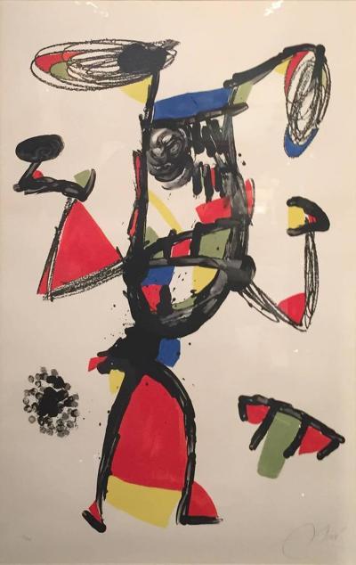Joan Miro Majorette Color Lithograph