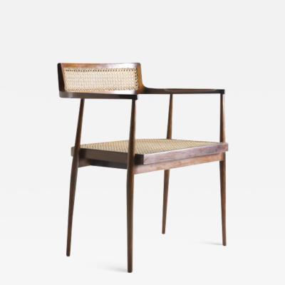 Joaquim Tenreiro Mid Century Modern Armchair by Brazilian Designer Joaquim Tenreiro Set of 2