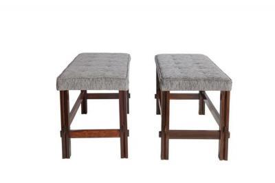 Joaquim Tenreiro Pair Of Brazilian Modern Jacaranda Wood Benches
