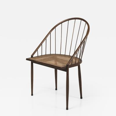 Joaquim Tenreiro Set of 8 Curva chairs in jacaranda wood and cane