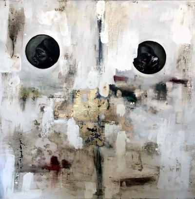 Joaquin Pineiro El Origen Painting and Mix Media on Canvas