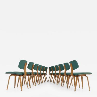 Joe Atkinson Set of Twelve Joe Atkinson Chairs for Thonet USA 1950s