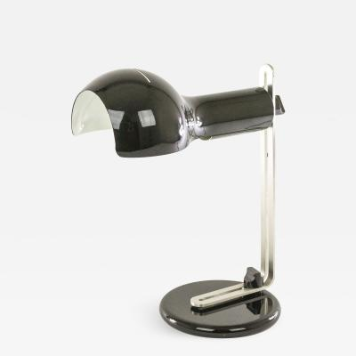 Joe Colombo Black Flash Table lamp by Joe Colombo for O Luce 1970s