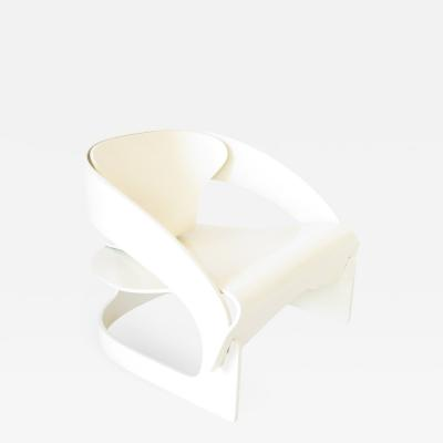 Joe Colombo JOE COLOMBO MODEL 4801 WHITE LACQUERED PLYWOOD CHAIR KARTELL 1965