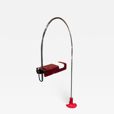 Joe Colombo Joe Colombo Architectural Red Spider Task Desk Lamp for Oluce Italy 1969