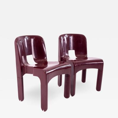 Joe Colombo Kartell Mid Century Plastic Chairs Pair
