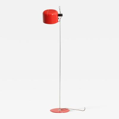 Joe Colombo Red Coup Floor Lamp by Joe Colombo for Oluce 1967