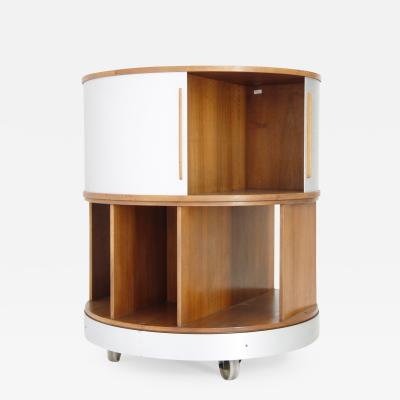 Joe Colombo Round Library with Aluminum Doors