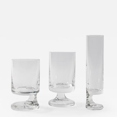 Joe Colombo Space age Crystal Seventies Drinking Glasses by Italian Designer Joe Colombo
