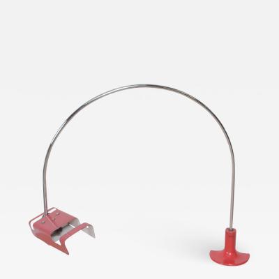 Joe Columbo Joe Colombo Arched RED Spider Desk Task Lamp Minimalist ITALY 1960s
