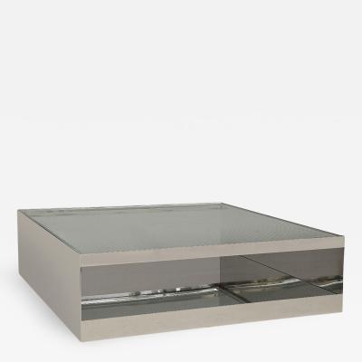 Joe D urso Stainless Steel Low Table