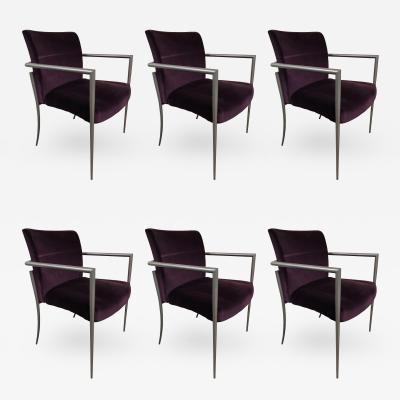 Joe Linda Ricchio Set of 6 Cortona Guest Staking Chairs by Joe Ricchio for HBF