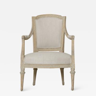 Johan Erik H glander Swedish Gustavian Original Paint Armchair By Johan Erik H glander