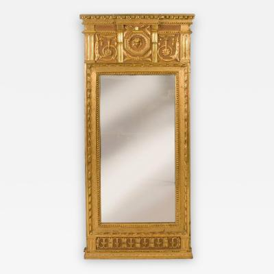 Johan kerblad Late 18th Century Neoclassic Swedish Giltwood Mirror