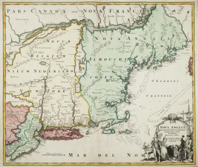 Johann Baptist Homann The English colonies on the north east seaboard of America