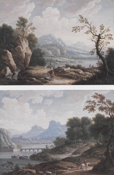 Johann Christoph Dietzsch Mountain Landscapes