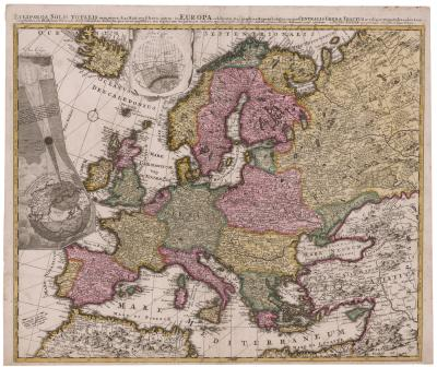 Johann Gabriel Doppelmayr The path of the 1706 total solar eclipse over Europe