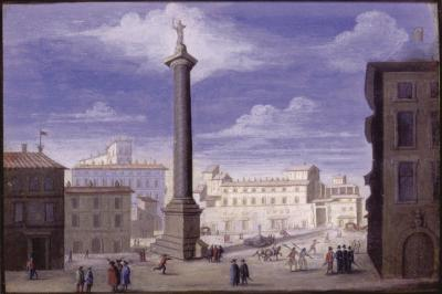 Johann Wilhelm Baur View of the Belvedere in Rome