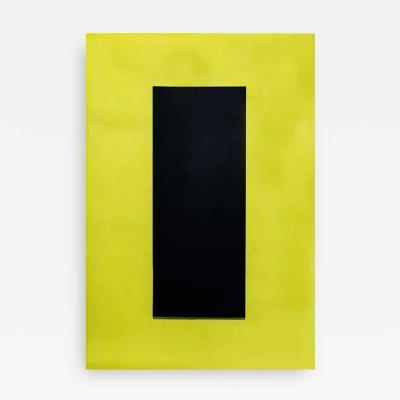 Johanna Grawunder POP ART YELLOW AND BLACK PERSPEX LIGHT PANEL BY JOHANNA GRAWUNDER