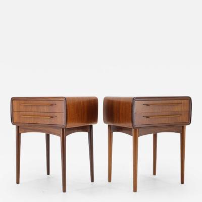 Johannes Andersen 1960s Johannes Andersen Pair of Rare Bedside Tables