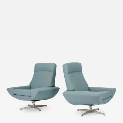 Johannes Andersen Capri Swivel Chairs by Johannes Andersen for Trensum 1958