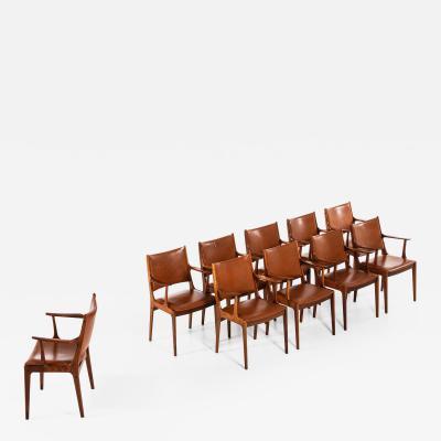 Johannes Andersen Dining Chairs Armchairs Produced by Uldum M belfabrik