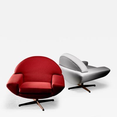 Johannes Andersen Johannes Andersen pair of Capri lounge chairs for Trensum 1960s
