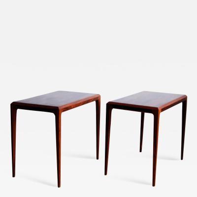 Johannes Andersen Pair of Rosewood Side Tables by Johannes Andersen