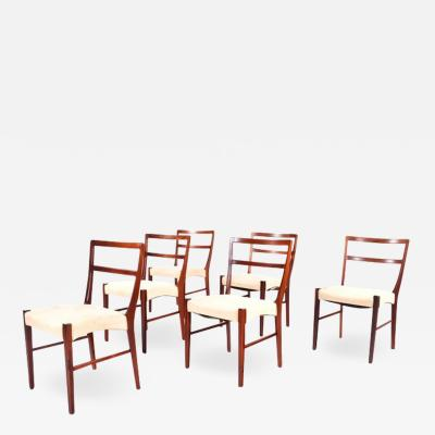 Johannes Andersen Rosewood Dining Chairs by Johannes Andersen for Bernhard Pedersen Sons