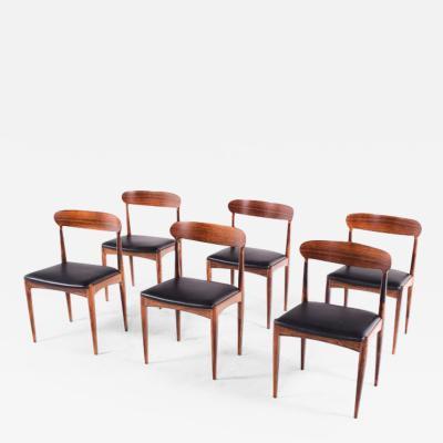 Johannes Andersen Rosewood Dining Chairs by Johannes Andersen for Uldum M belfabrik