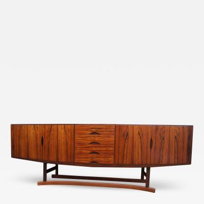 Johannes Andersen Rosewood Sideboard Model HB20 by Johannes Andersen for Hans Bech